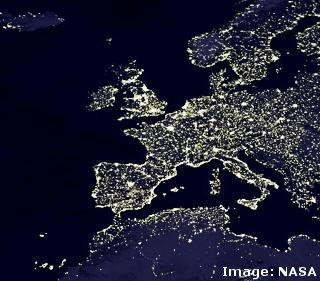 Light Pollution And Dark Sky Maps For The UK And Europe Farnham - Us light pollution map